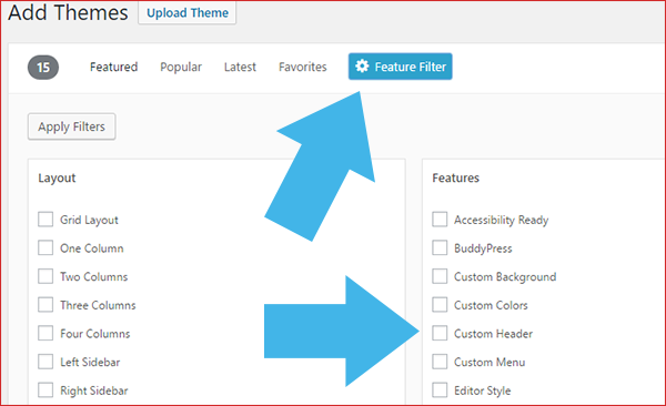 WordPress Feature Filter